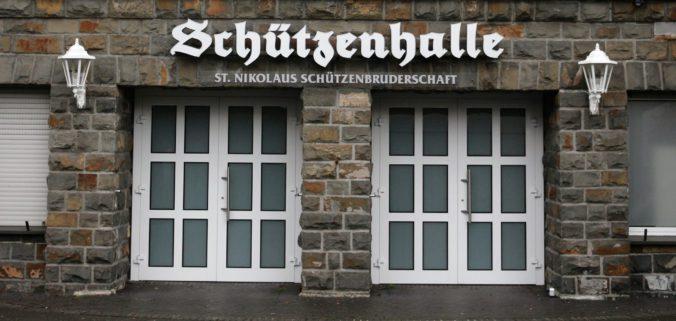 Foto Eingang Schützenhalle 2018